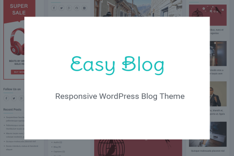EasyBlog – A Beautiful Free WordPress Theme for Bloggers